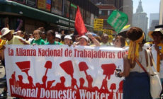 Domestic workers march for rights. Photo: National Domestic Workers Alliance