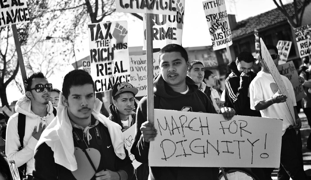 Former Pacific Steel workers at their March For Dignity in Berkeley. Photo: Brooke Anderson